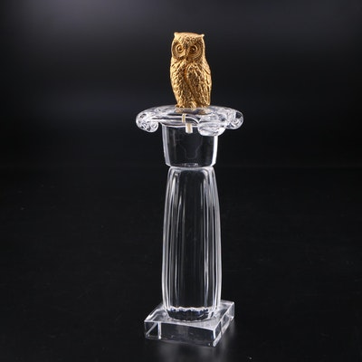 "James Houston for Steuben ""Column of the Owl"" Art Glass Figurine"
