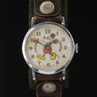 Vintage Bradley Mickey Mouse Stem Wind Wristwatch