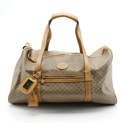 Gucci Micro GG Coated Canvas and Leather Duffle Bag