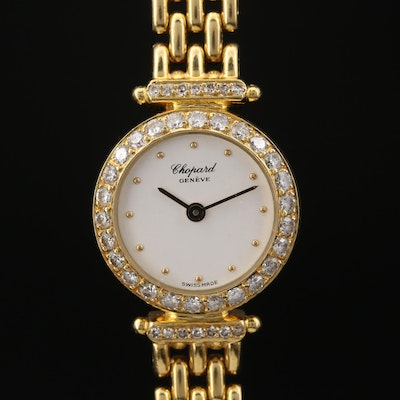 Chopard Classique Diamond and 18K Gold Quartz Wristwatch