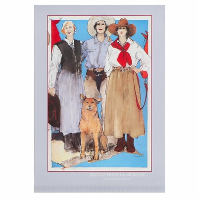"Offset Lithograph after Donna Howell-Sickles ""Rubie, Ruth and Neva Jo"""