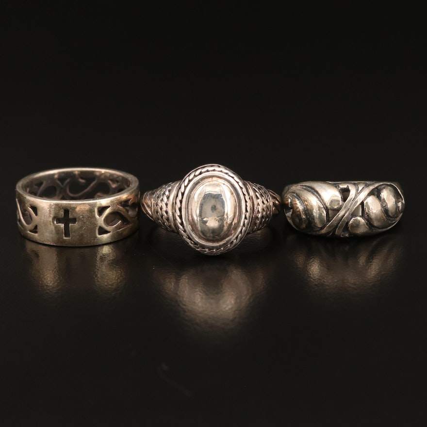 Sterling Silver Ring Selection