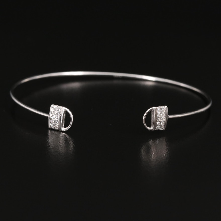 Sterling Silver Cubic Zirconia Cuff