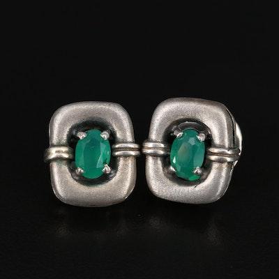 Polish Sterling Silver Chalcedony Earrings