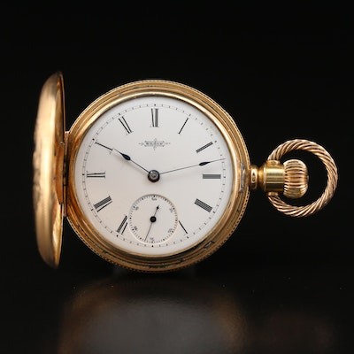 1887 Elgin Gold Filled Hunting Case Pocket Watch