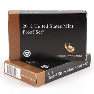 Key Date 2012 US Mint Proof Set with 2011 Proof Set