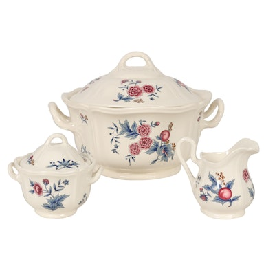 "Wedgwood ""Williamsburg Potpourri"" Tureen, Sugar Bowl, and Creamer, 1956–1998"