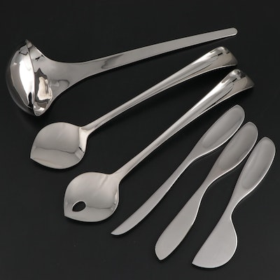 "Georg Jensen ""Duo"" and Other Stainless Steel Serving Utensils"