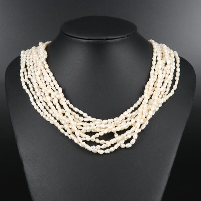 Pearl Torsade Necklace with 14K Clasp and Accents