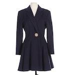 Alan Cherry of Toronto Navy Blue Wool Swing Jacket