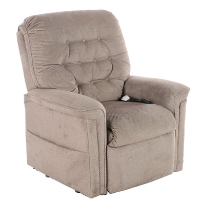 Pride Button Tufted Power Lift Recliner with Remote