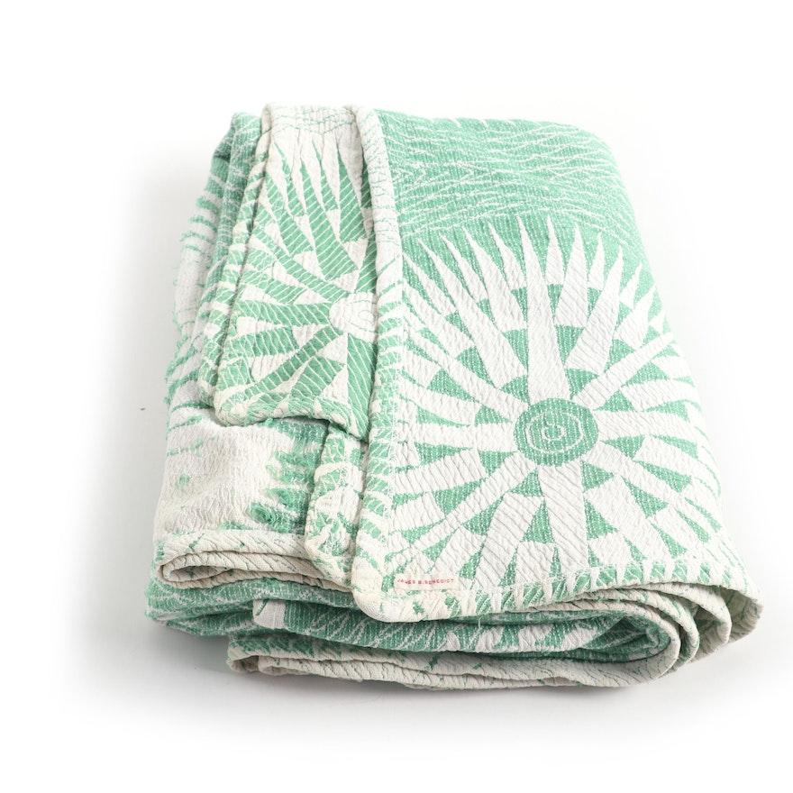 Starburst Pattern Power Loomed Throw Blanket