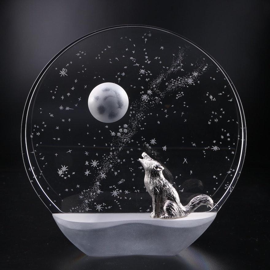 "James Houston for Steuben ""Wilderness Serenade"" Art Glass Figurine"