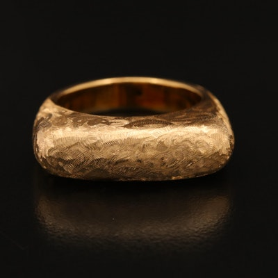 18K Electroformed Textured Ring