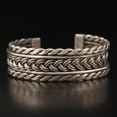 Mexican Sterling Woven Center Cuff