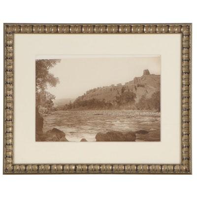 "Jack Ellis Haynes Large-Format Photograph ""Holy City, Shoshone River"""