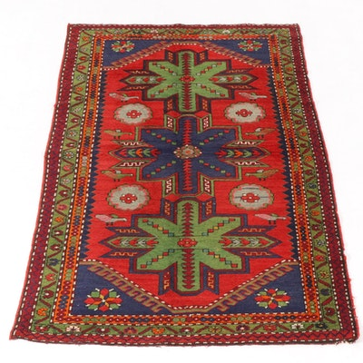 4'9 x 7'11 Hand-Knotted Caucasian Kazak Pictorial Rug, 1920s