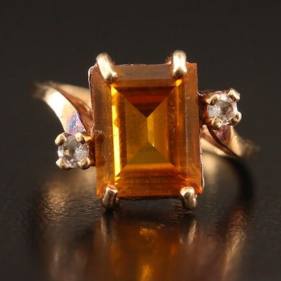10K Sapphire and Topaz Ring