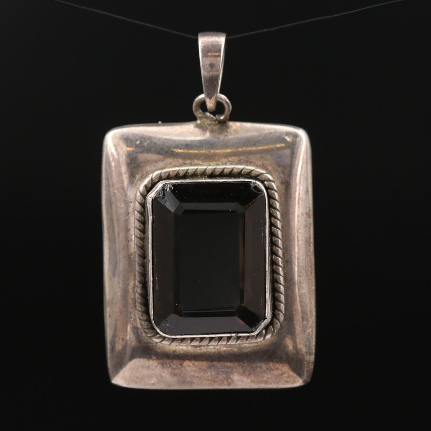 Sterling Silver Smoky Quartz Pendant