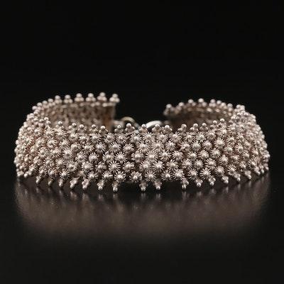 Sterling Silver Cannatille Bracelet