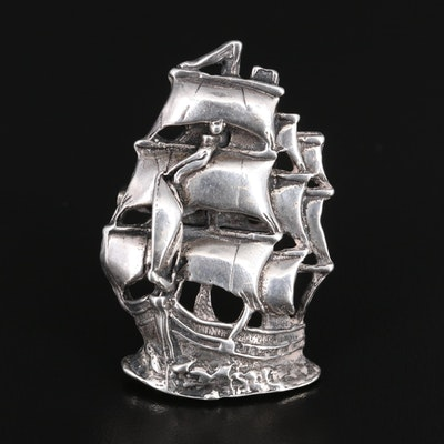 "Sterling Silver ""Atocha 1922"" Ship Converter Brooch"