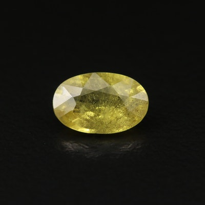 Loose 1.20 CT Oval Faceted Yellow Sapphire