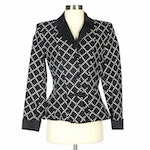 Pam McMahon Black and White Quilted Blazer