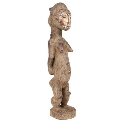 Baule Wooden Maternity Figure, Côte d'Ivoire