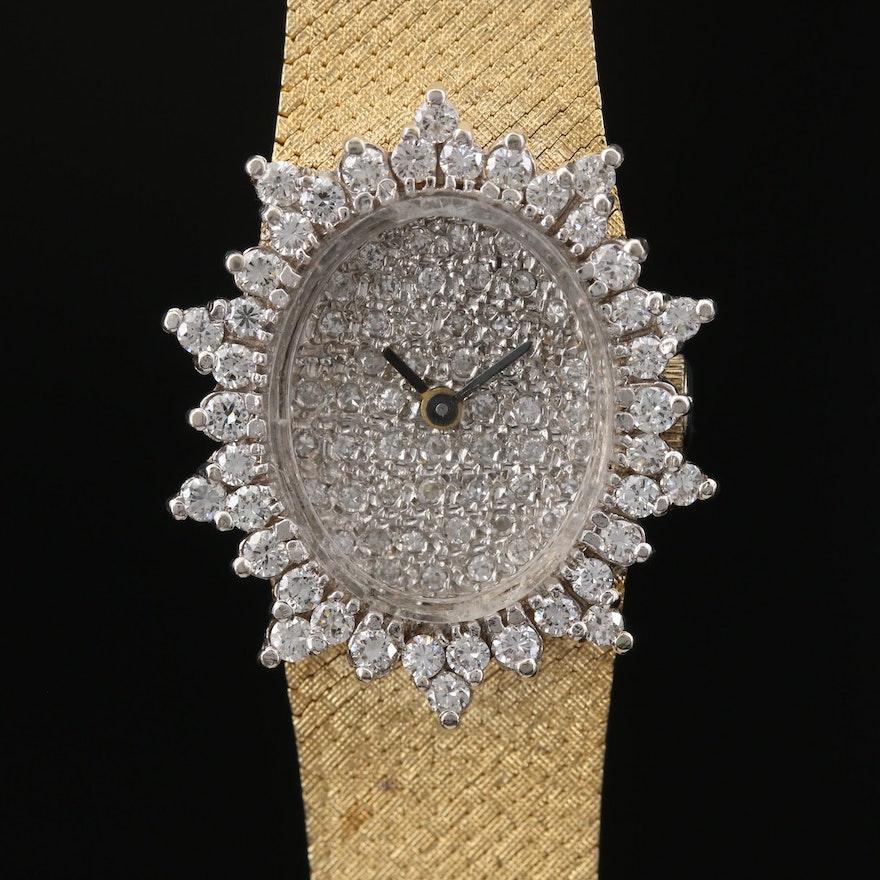 Vintage Baume & Mercier 1.30 CTW Diamond and 14K Gold Stem Wind Wristwatch