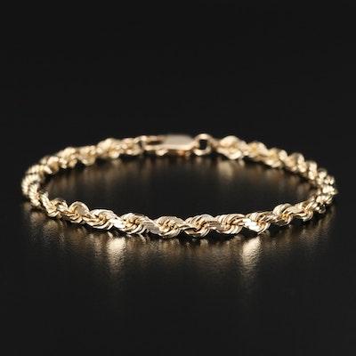 14K Rope Bracelet