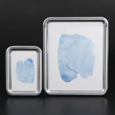 "Georg Jensen ""Tableau"" Aluminum Table Top Picture Frames"
