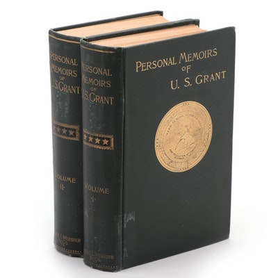 "First Edition ""Personal Memoirs of U. S. Grant"" Two-Volume Set, 1885–86"