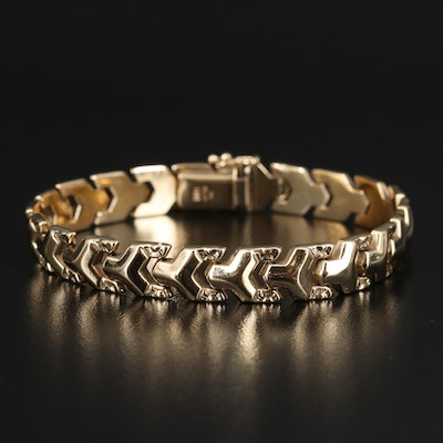 Italian Milor 14K Fancy Link Bracelet