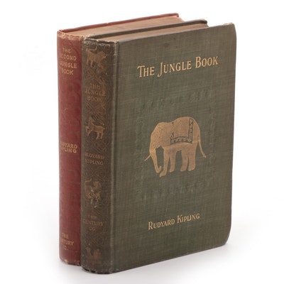 "First American Edition ""The Jungle Book"" and ""The Second Jungle Book"""