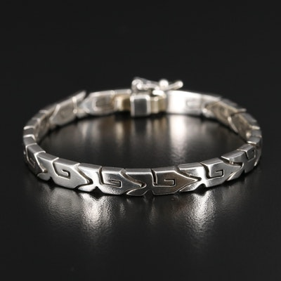 Mexican Sterling Silver Fancy Link Bracelet