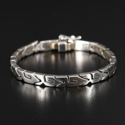 Mexican Sterling Silver Fancy Link Bracelet