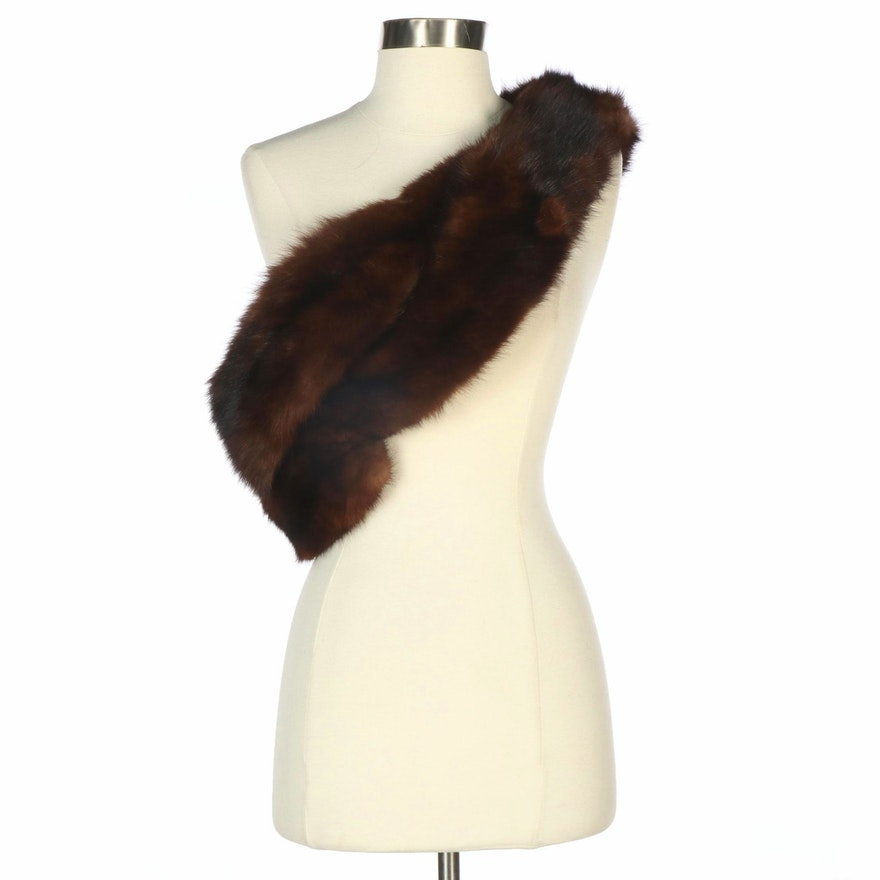 Sable Fur Crossover Stole from Felix Friedman