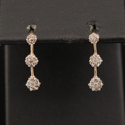 10K Diamond Drop Earrings