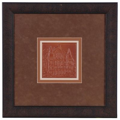 Rookwood Pottery Glazed Ceramic Tile of Cincinnati Music Hall