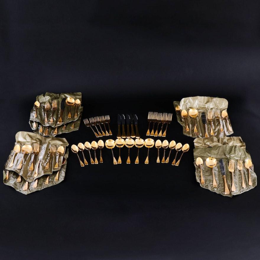 Supreme Vermai Gold Plated Flatware, Mid toLate 20th Century