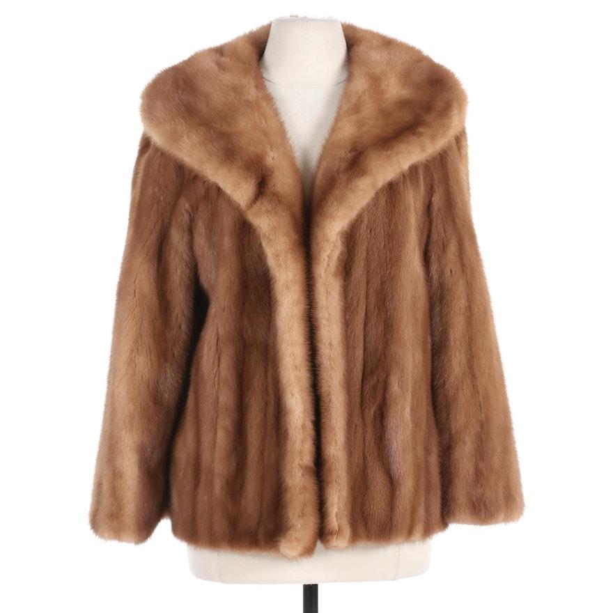 Mink Fur Jacket with Shawl Collar by A. J. Blatte