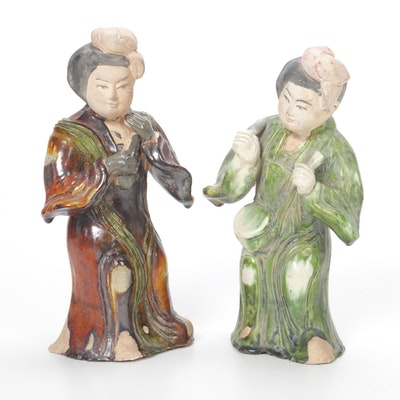 Chinese Shiwan Ware  Musician Figurines, 20th Century