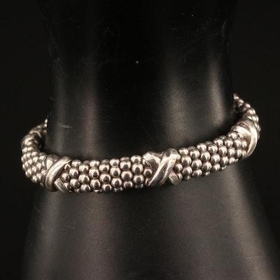 Caviar by Lagos Sterling Silver Beaded X Bracelet