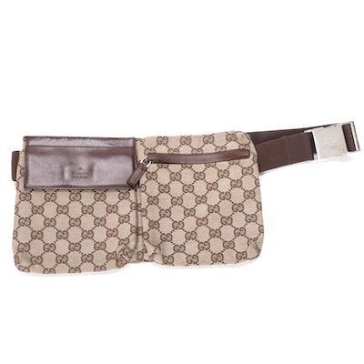 Gucci Belt Bag in GG Monogram Canvas and Leather