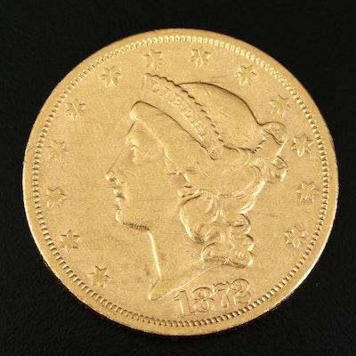 1872-S Liberty Head $20 Gold Double Eagle