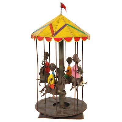"Manuel Felguerez Folk Art Wrought Iron ""The Carousel"" Sculpture, 1960s"
