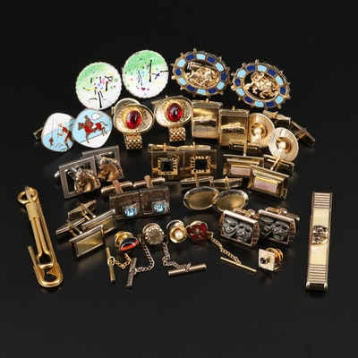 Vintage Cufflinks, Tie Bars and Tie Pins