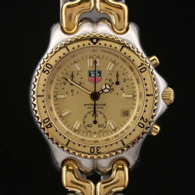 TAG Heuer SEL 1/10th Chronograph Stainless Steel Wristwatch