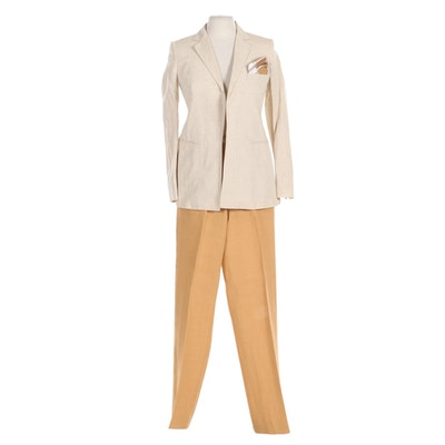 Max Mara Linen Pantsuit with Handkerchief