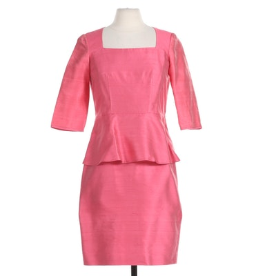 Lafayette 148 New York Silk Blend Dress in Pink